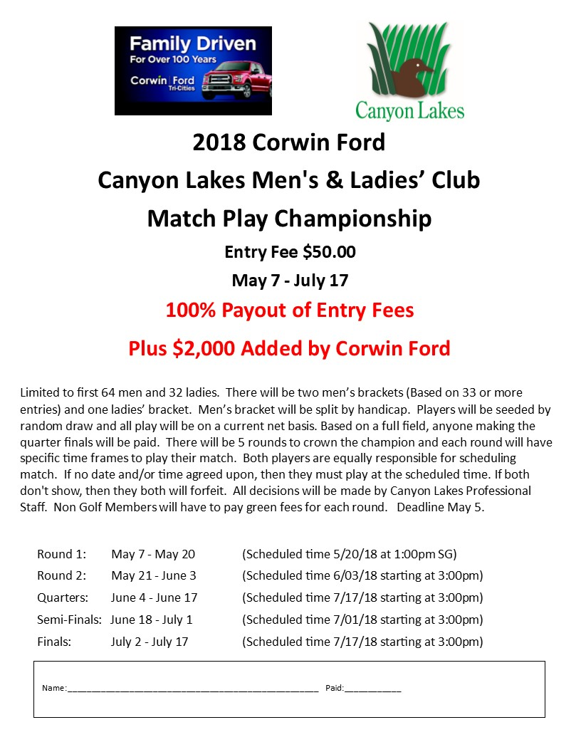 Tri-Cities Golf - Canyon Lakes Golf Course - 509 582 3736